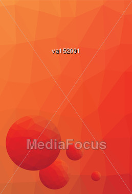 Red Orange Letterhead Low Polygonal Vector Illustration Stock Photo