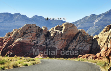 Red Rock Canyon, Nevada ,USA Stock Photo