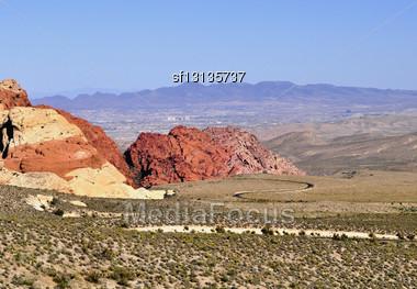 Red Rock Canyon, Nevada ,USA Stock Photo