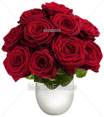 Stock Photo Red Roses In Vase Clipart Image 63082005 Red Roses