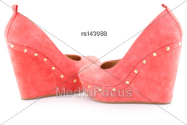 Red Shoes Isolated On White Background Stock Photo