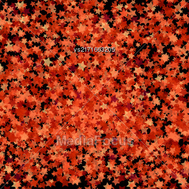 Red Transparent Stars. Red Stars Background. Abstract Stars Pattern Stock Photo