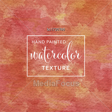 Red And Yellow Pastel Watercolor On Tissue Paper Pattern. Vector Stock Photo