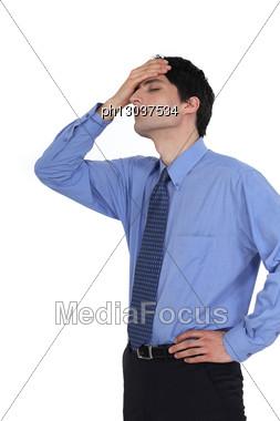 Regretful Businessman Stock Photo