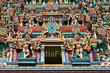 Relief Of Menakshi Temple, Madurai, Tamil Nadu, India Stock Photo