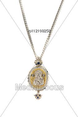 Religious Jewellery Icon Pendant Stock Photo