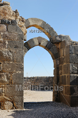 Remains Of The Crusader Fortress Of Belvoir, In Northern Israel (Kohav Hayarden) Stock Photo