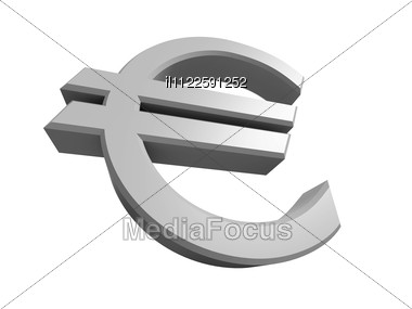 Rendered 3D Image Of A Euro Symbol Stock Photo