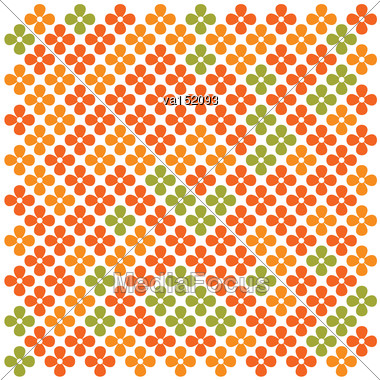 Repeating Colored Flower Background Vector Illustration Stock Photo