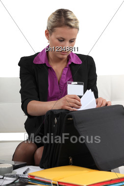 Reporter Waiting For Interview Stock Photo