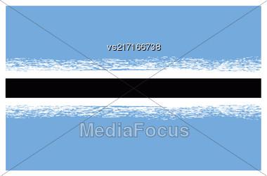 Republic Of Botswana Flag Isolated On White Background Stock Photo