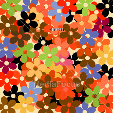 Retro Decorative Floral Pattern Wrapping Paper Design - Stock ...