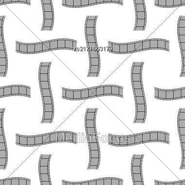 Retro Film Stripes Background Seamless Cinema Pattern Stock Photo