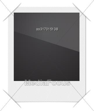 Retro Photo Frame Polaroid On White Background. Vector Illustration Stock Photo