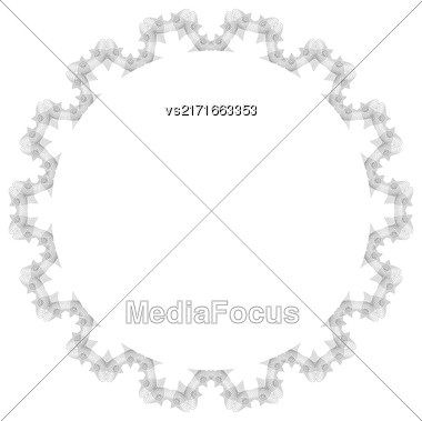 Retro Round Frame Isolated On White Background Stock Photo