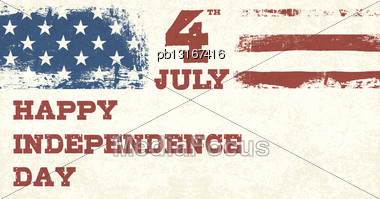 Retro Style Independence Day Design Template. Vector, EPS10 Stock Photo