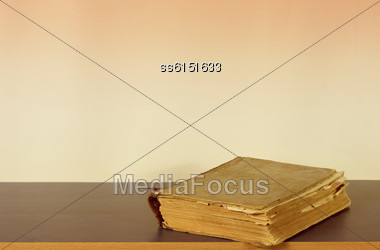 Retrobook And Background Is Blank Place For Text Stock Photo