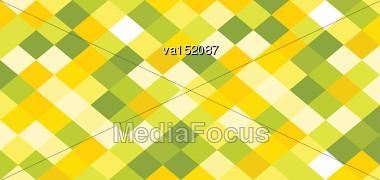 Rhomb Colored Horizontal Background Vector Illustration Stock Photo