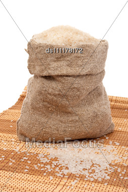 Rice Sack Stock Photo