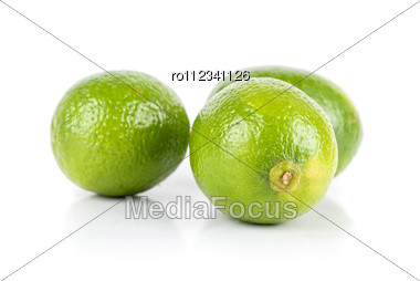 Ripe Brazilian Limes Isolated Stock Photo