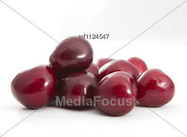 Ripe Of Cherry Stock Photo