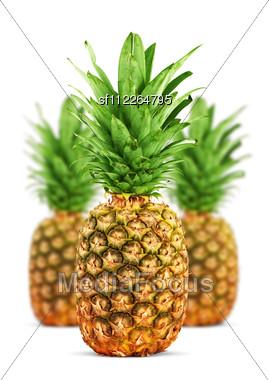 Ripe Pineapple Stock Photo