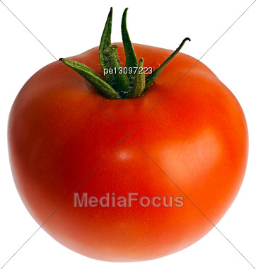 Ripe Red Tomatoes Isolated On White Stock Photo