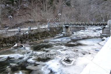 River In National Park Borjomi, Georgia Stock Photo