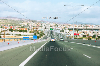 Road In Limassol,Cyprus Stock Photo