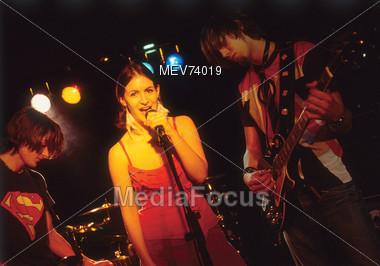 Rock Band & Singer Stock Photo