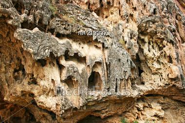 Rock At Devil Bridge Natural Monument In The Syunik Region Of Armenia. Stock Photo