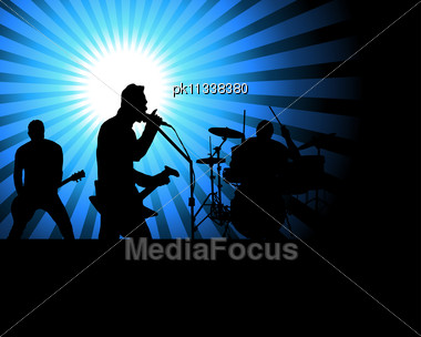 Rock Group Singers Theme. Stock Photo