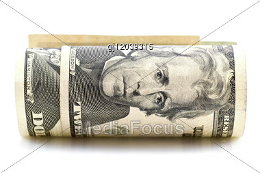 Roll Of American Dollars Stock Photo