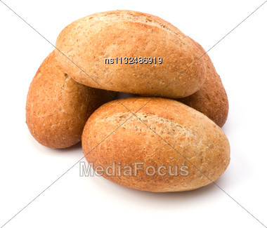 Rolls Isolated On White Background Close Up Stock Photo