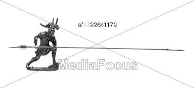 Roman Toy Soldier Stock Photo
