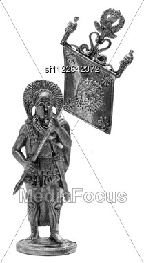 Roman Toy Soldier Isolated Stock Photo