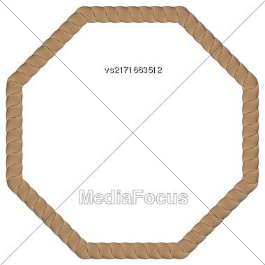 Rope Creative Frame Isolated On White Background Stock Photo