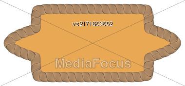 Rope Creative Ornamental Frame Isolated On White Background Stock Photo