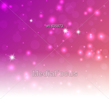 Rose Red Background - Vector Illustration, Graphic Design Useful For Your Design. Bright Rose Red Abstract Christmas Background With White Snowflakes. Space Your Text Stock Photo
