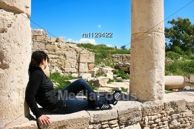 Ruins At Amathus, One Of The Most Ancient Royal Cities Of Cyprus, On The East Side Of Limassol.Its Age Is Almost 2000 Years Stock Photo