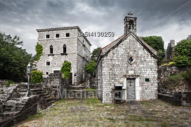 Ruins Of Stari Grad (Old Town), Bar In Montenegro Stock Photo