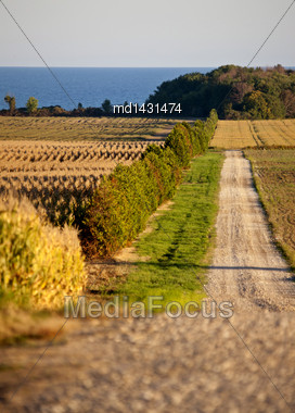Rural Country Scene On Lake Erie Ontario Canada Stock Photo
