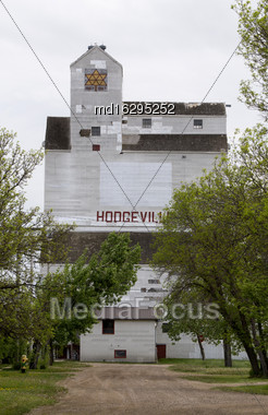 Rural Grain Elevator Canada In Hodgeville Saskatchewan Stock Photo