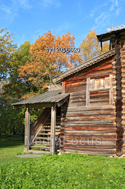 Rural House On Timber Glade Stock Photo