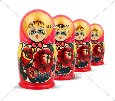 Russian Dolls. Stock Photo