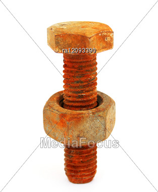 Rusty Nut And Bolt Stock Photo
