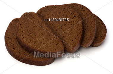 Rye Bread Isolated On White Background Stock Photo