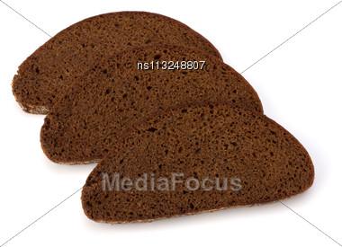 Rye Bread Isolated On White Background Stock Photo