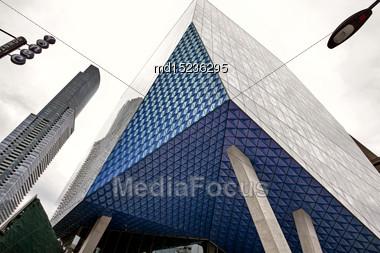 Ryerson University Toronto Yonge Street Downtown Busy Stock Photo