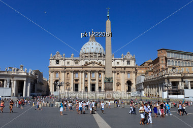 Saint Peter Cathedral. Vatican. Rome. Europe. Stock Photo